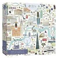 Map of London- 1000 Pieces Gibsons Jigsaws